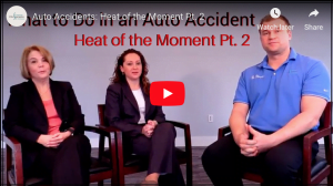 Group of professionals discussing car accident injuries